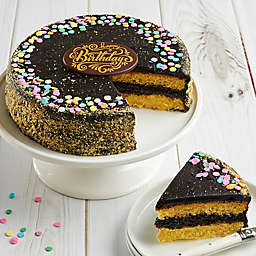 Bake Me A Wish Golden Fudge Celebration Happy Birthday Cake