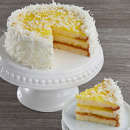 Lemon Coconut Happy Birthday Cake