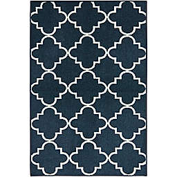 Mohawk Home Fancy Trellis 2-Foot 6-Inch x 3-Foot 10-Inch Accent Rug in Navy
