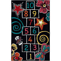 Mohawk Home® Aurora Hopscotch Chalk 5-Foot x 8-Foot Area Rug in Black