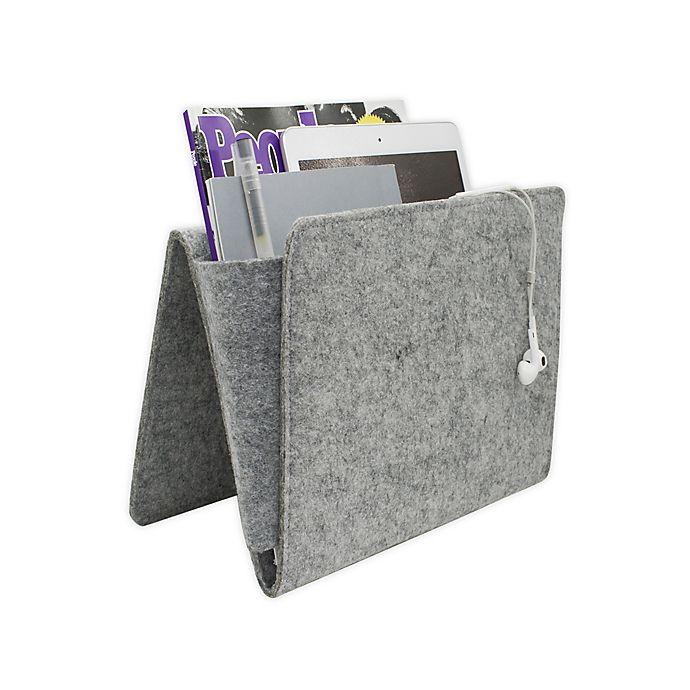 Alternate image 1 for Kikkerland® Bedside Felt Caddy Pocket in Grey