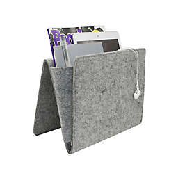 Kikkerland® Bedside Felt Caddy Pocket in Grey