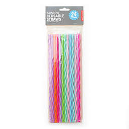 Kikkerland® 24-Pack 11-Inch Reusable Straws