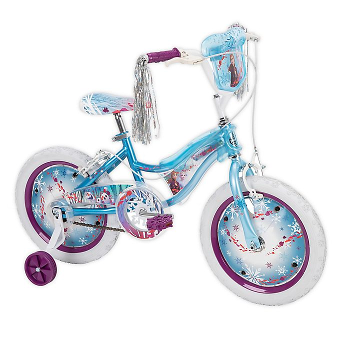 Alternate image 1 for Huffy® Disney Frozen 2 16-inch Bike with Electro-Lights in Sky Blue