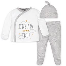Gerber® 3-Piece Dreams Take-Me-Home Set in Gray
