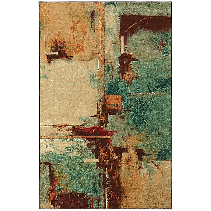 Alternate image 1 for Mohawk Home Select Strata Fusion Rectangle Rug in Aqua