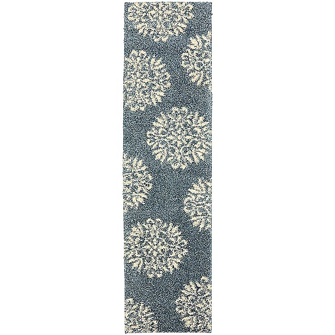 Alternate image 1 for Mohawk Home Huxley Exploded Medallions 2-Foot x 7-Foot 10-Inch Runner Bay Blue