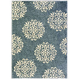 Mohawk Home Huxley Exploded Medallions Rug in Bay Blue