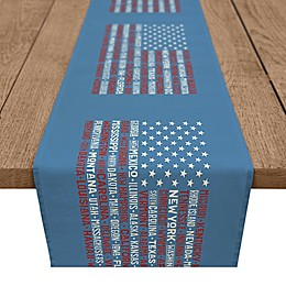 USA State Names 16x90 Table Runner