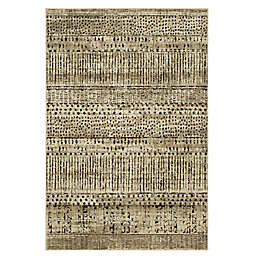 Mosaic Frieze 2' x 3' Accent Rug in Oyster