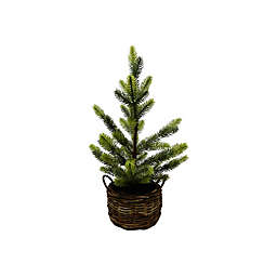 Basket Christmas Tree in Green/Brown