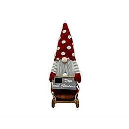 13-Inch Gnome Tabletop Christmas Advent Sign