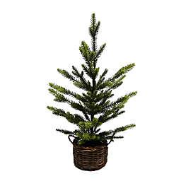 24.5-Inch Basket Christmas Tree