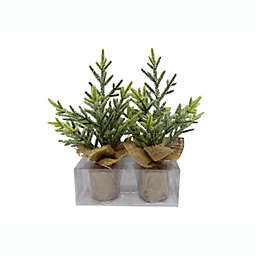 Bee & Willow™ Home Decorative Glitter Burlap Trees (Set of 2)