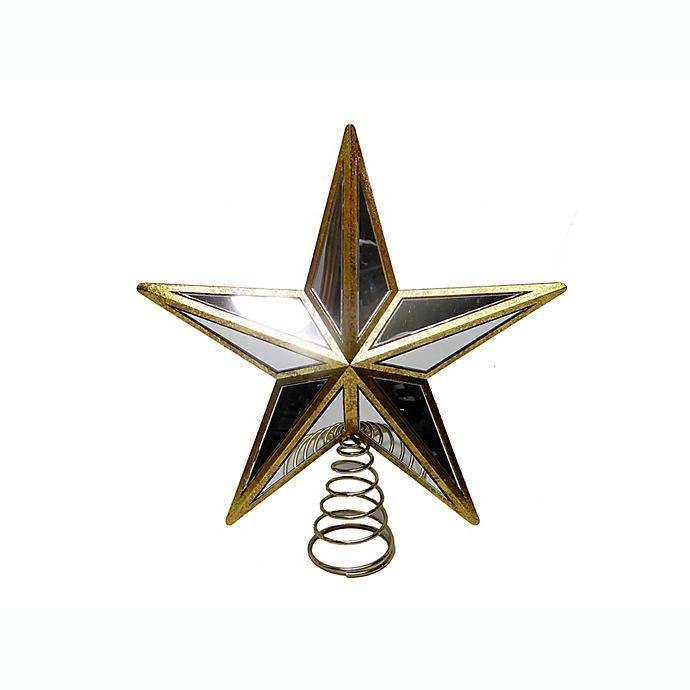 Alternate image 1 for 11.75-Inch Gold Star Christmas Tree Topper