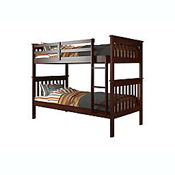 Mission Twin Over Twin Bunk Bed in Cappuccino
