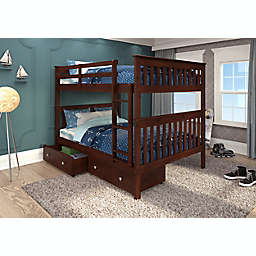Mission Full Over Full Bunk Bed with Drawer Storage