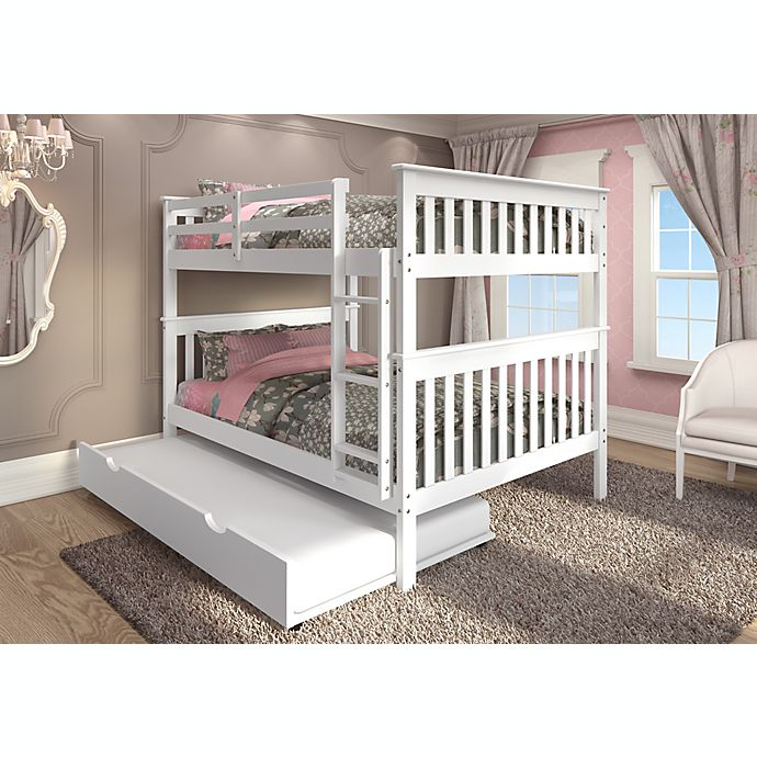 Alternate image 1 for Mission Full Over Full Bunk Bed with Trundle