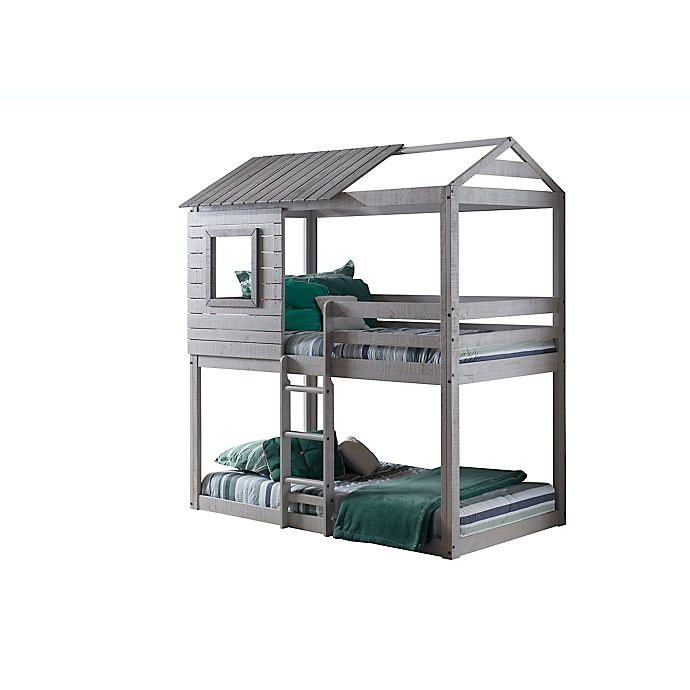 Alternate image 1 for Deer Blind Twin Over Twin Bunk Bed in Light Grey