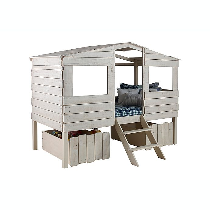 Alternate image 1 for Tree House Loft Twin Bed with Drawers in Rustic Sand
