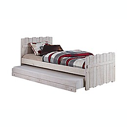 Tree House Loft Twin Bed with Trundle in Rust/Sand