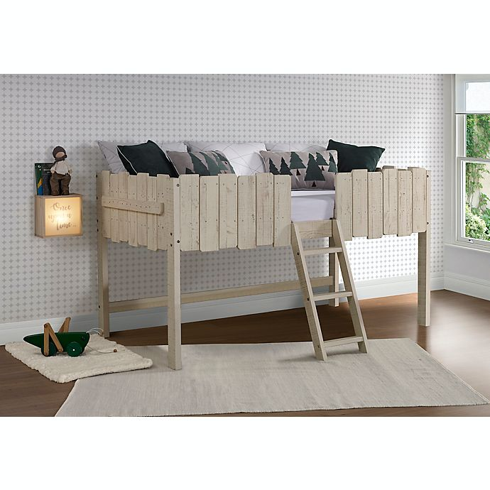Alternate image 1 for Picket Fence Low Loft Twin Bed in Rustic Sand