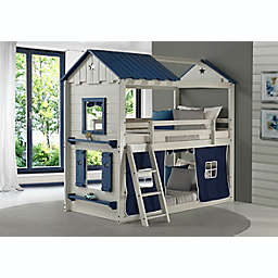 Star Gaze Twin Over Twin Bunk Bed in Grey