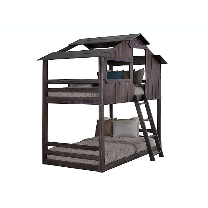 Alternate image 1 for Mission Fort Twin Over Twin Bunk Bed in Rustic Brown