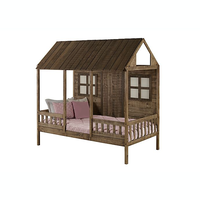 Alternate image 1 for Front Porch Low Loft Twin Bed in Rustic Driftwood