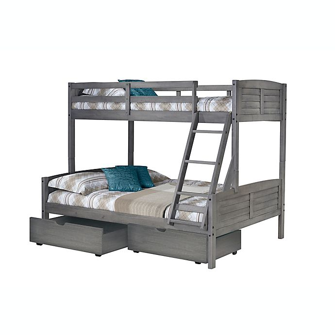 Alternate image 1 for Louver Bunk Bed with Drawer Storage