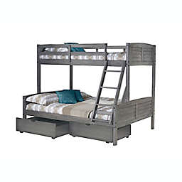 Louver Bunk Bed with Drawer Storage