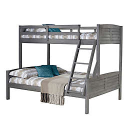 Louver Twin Over Twin Bunk Bed in Antique Grey