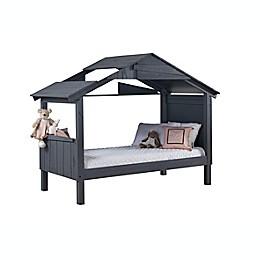 Shack Low Loft Twin Bed in Rustic Dark Grey