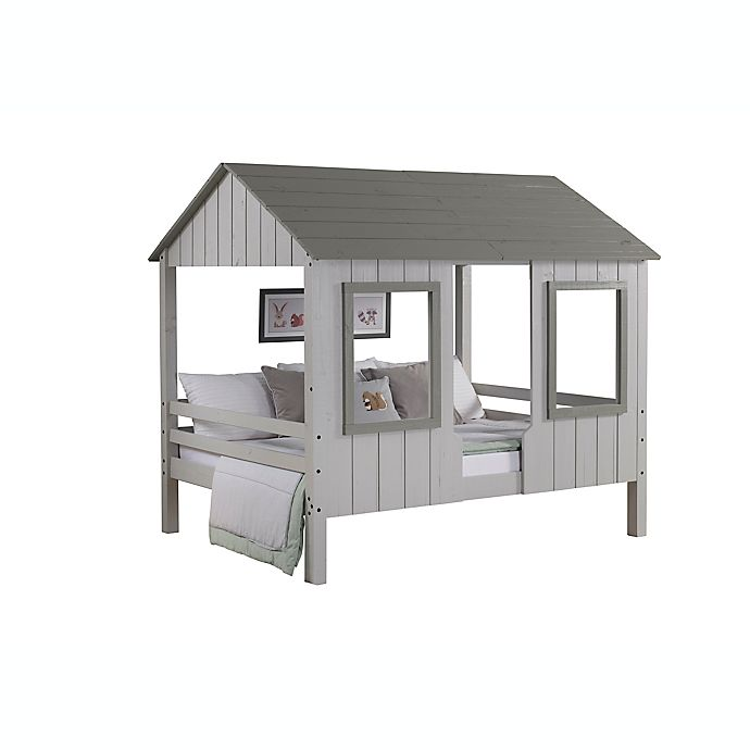 Alternate image 1 for Loft Bed House Two-Tone Full Bed in Grey