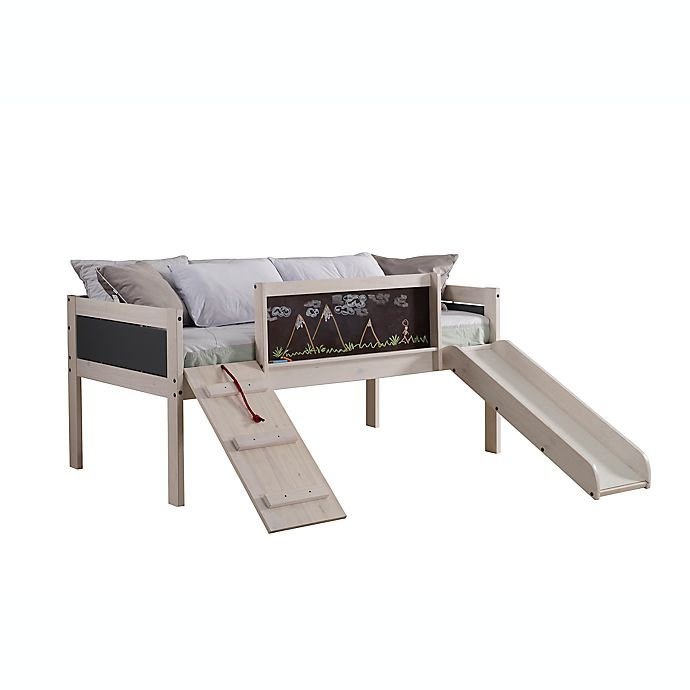 Alternate image 1 for Art Play Junior Low Loft Twin Bed in White Wash