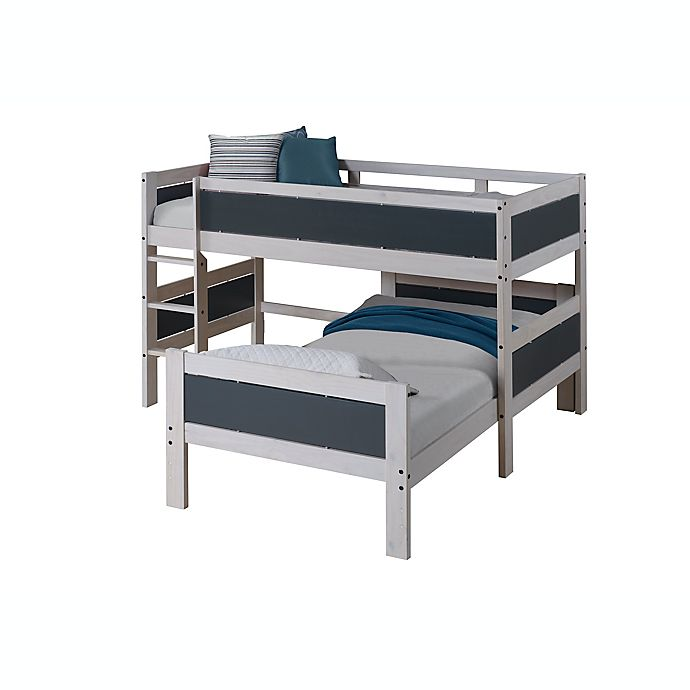 Alternate image 1 for Donco Kids Twin over Twin Loft Bed in White/Dark Grey