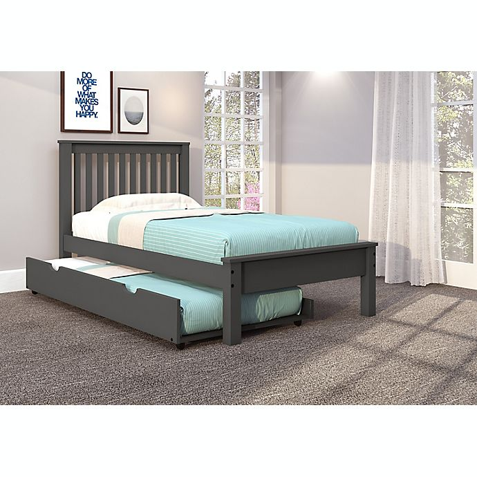Contempo Platform Bed With Trundle Bed Bath Beyond