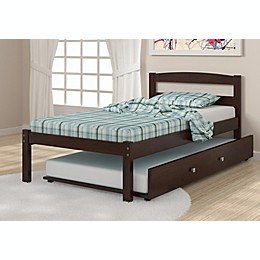 Econo Bed with Trundle in Dark Cappuccino