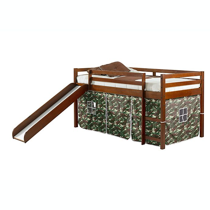 Alternate image 1 for Twin Loft Bed in Espresso with Tent Kit