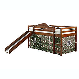 Twin Loft Bed in Espresso with Tent Kit