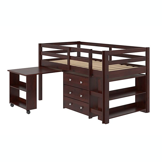 Alternate image 1 for Twin Low Loft Bed with Storage