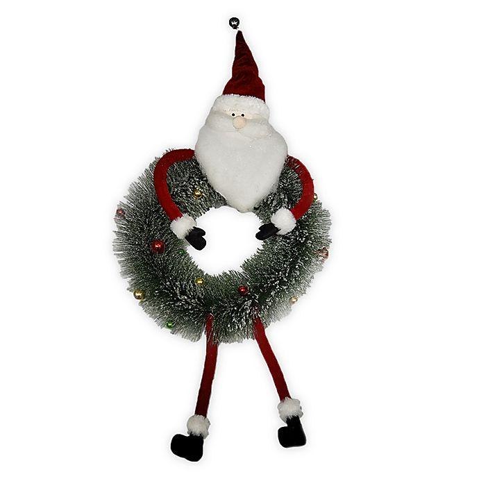 Alternate image 1 for Santa Christmas Wreath
