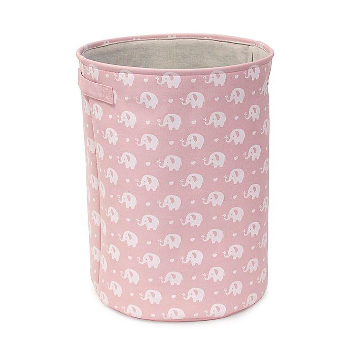 Alternate image 1 for Closet Complete Pink Elephant Round Hamper