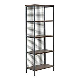 Sauder® Market Commons 4-Shelf Bookcase in Rustic Walnut