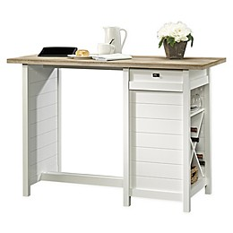 Sauder Cottage Road Work Table in Soft White