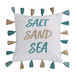 """Levtex Home Humewood """"Salt Sand Sea"""" Square Throw Pillow in White"""
