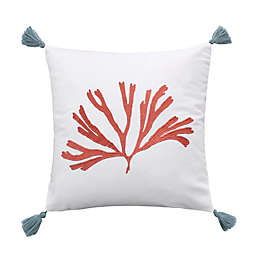 Levtex Home Cape Town Coral Square Throw Pillow in White