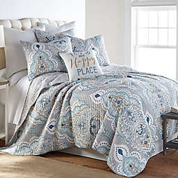 Levtex Home Olyria 3-Piece Reversible Quilt Set in Grey/Blue