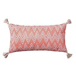 Levtex Home Teide Chevron Oblong Throw Pillow in Coral