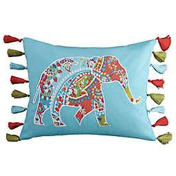 Levtex Home Teide Elephant Oblong Throw Pillow in Teal
